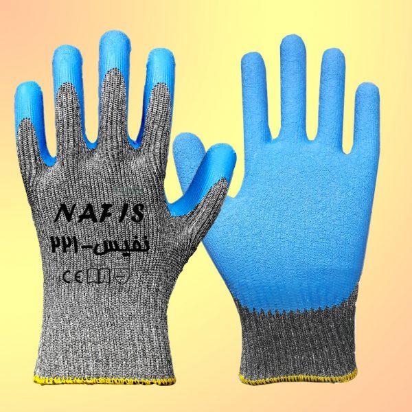 دستکش پلی استر لاتکس مدل نفیس 221
