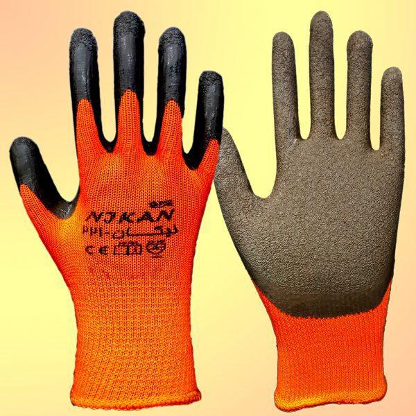 دستکش پلی استر لاتکس مدل نیکان 221